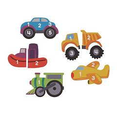 Learning Resources 5-pk. Vehicles Magnetic Counting Puzzles