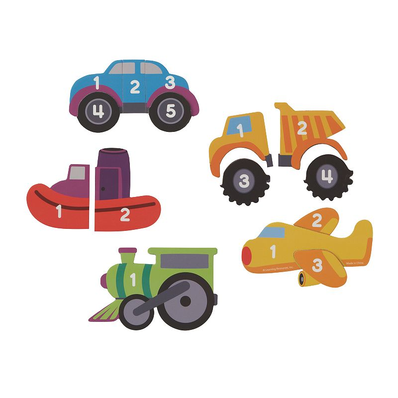 Learning Resources Magnetic Counting Puzzles, Vehicles