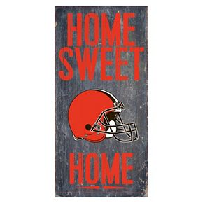 Cleveland Browns Home Sweet Home Sign
