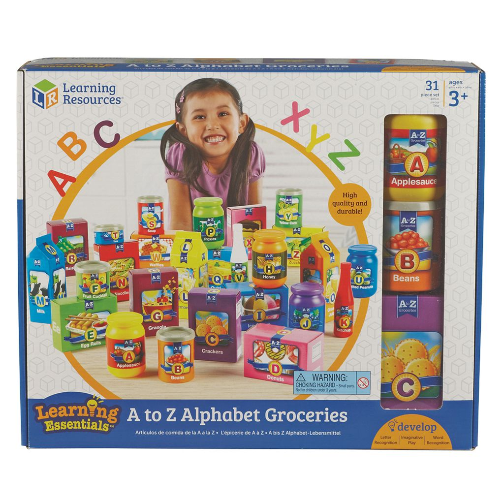 Learning Resources A to Z Alphabet Groceries