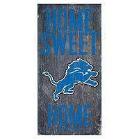 Detroit Lions Home Sweet Home Sign