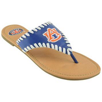 Women's Auburn Tigers Stitched Flip-Flops