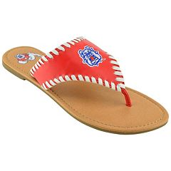 Women's Fresno State Bulldogs Stitched Flip-Flops