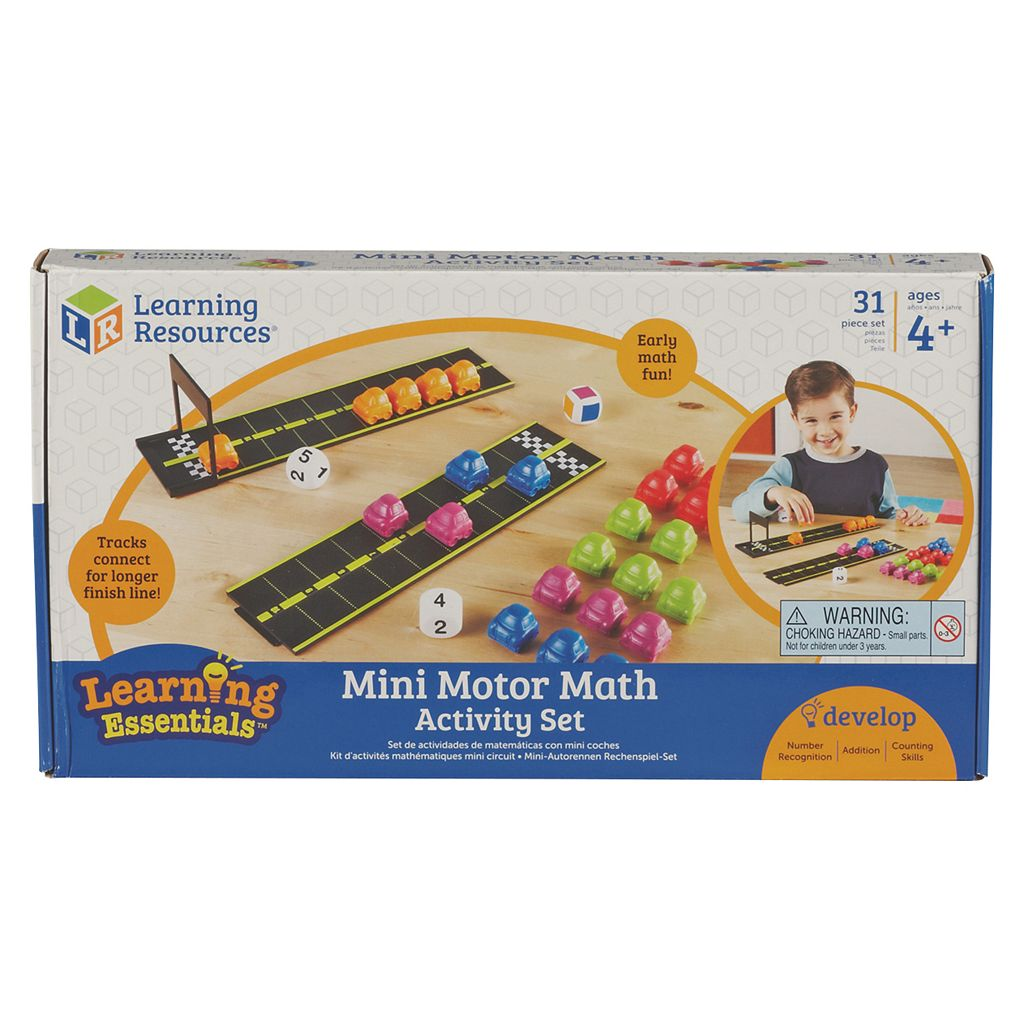 Learning Resources Mini Motor Math Activity Set