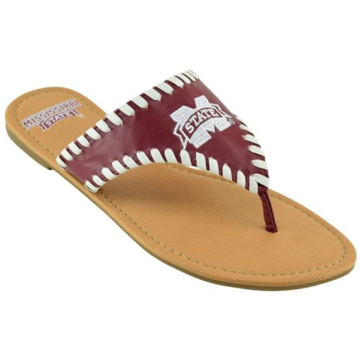 Women's Mississippi State Bulldogs Stitched Flip-Flops