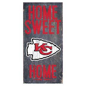 Kansas City Chiefs Home Sweet Home Sign
