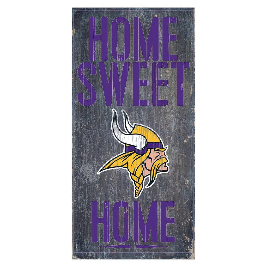 Minnesota Vikings Home Sweet Home Sign