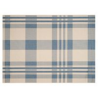 Safavieh Courtyard Tartan Plaid Indoor Outdoor Rug