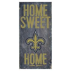 New Orleans Saints Home Sweet Home Sign