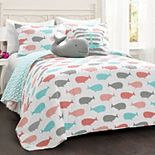 Lush Decor Whale Quilt Set