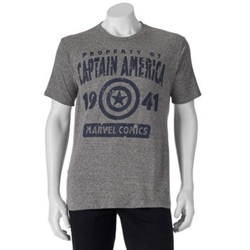 Men's Marvel Captain America 75th Property of America Tee