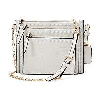 La Diva Square Studded 3-in-1 Crossbody Bag