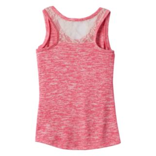 Girls 7-16 Miss Chievous Lace Back Tank Top