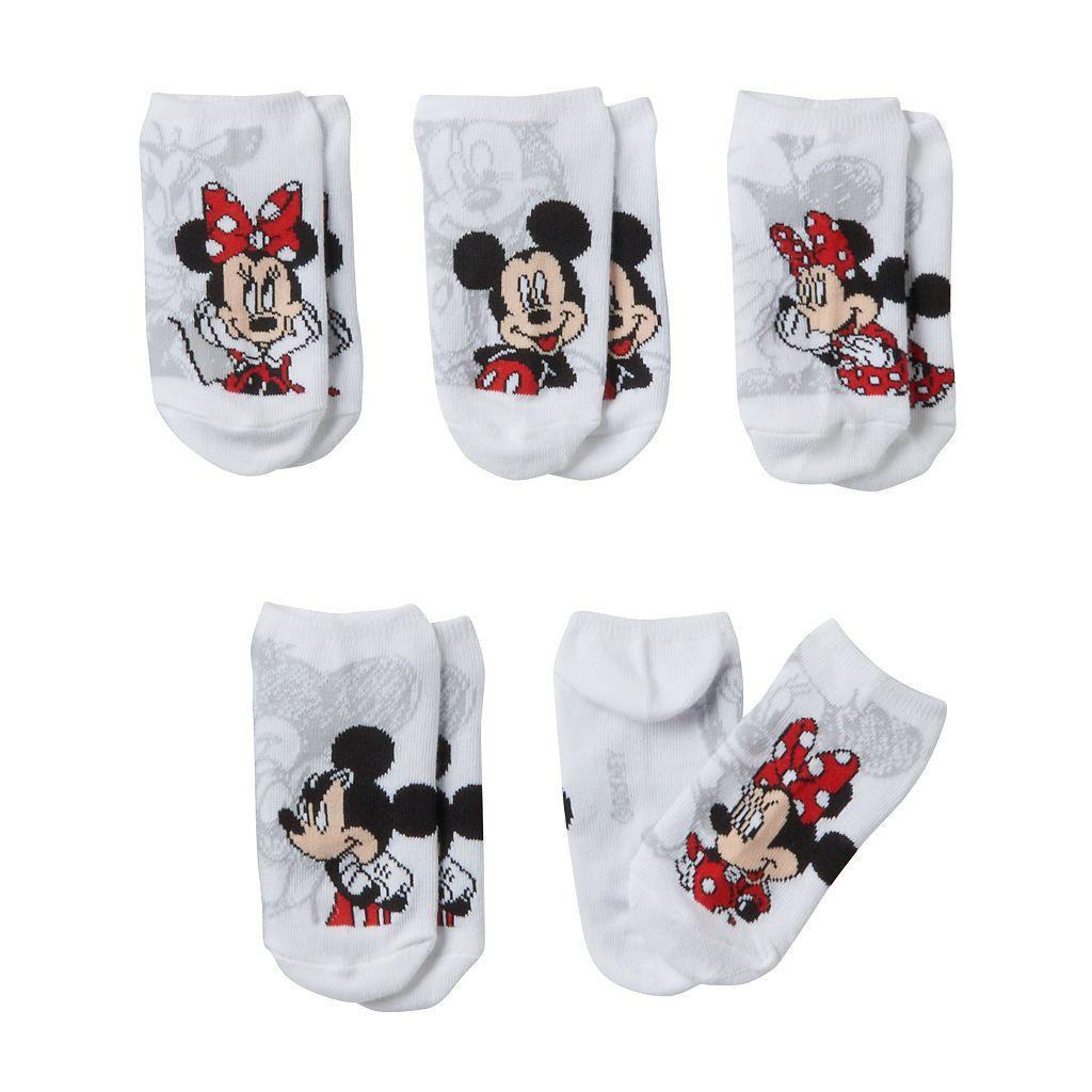 Disney's Minnie Mouse Girls 4-6x 5-pk. No-Show Socks