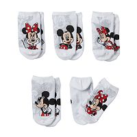 Disney's Minnie Mouse Girls 4-6x 5-pk. No-Show Socks