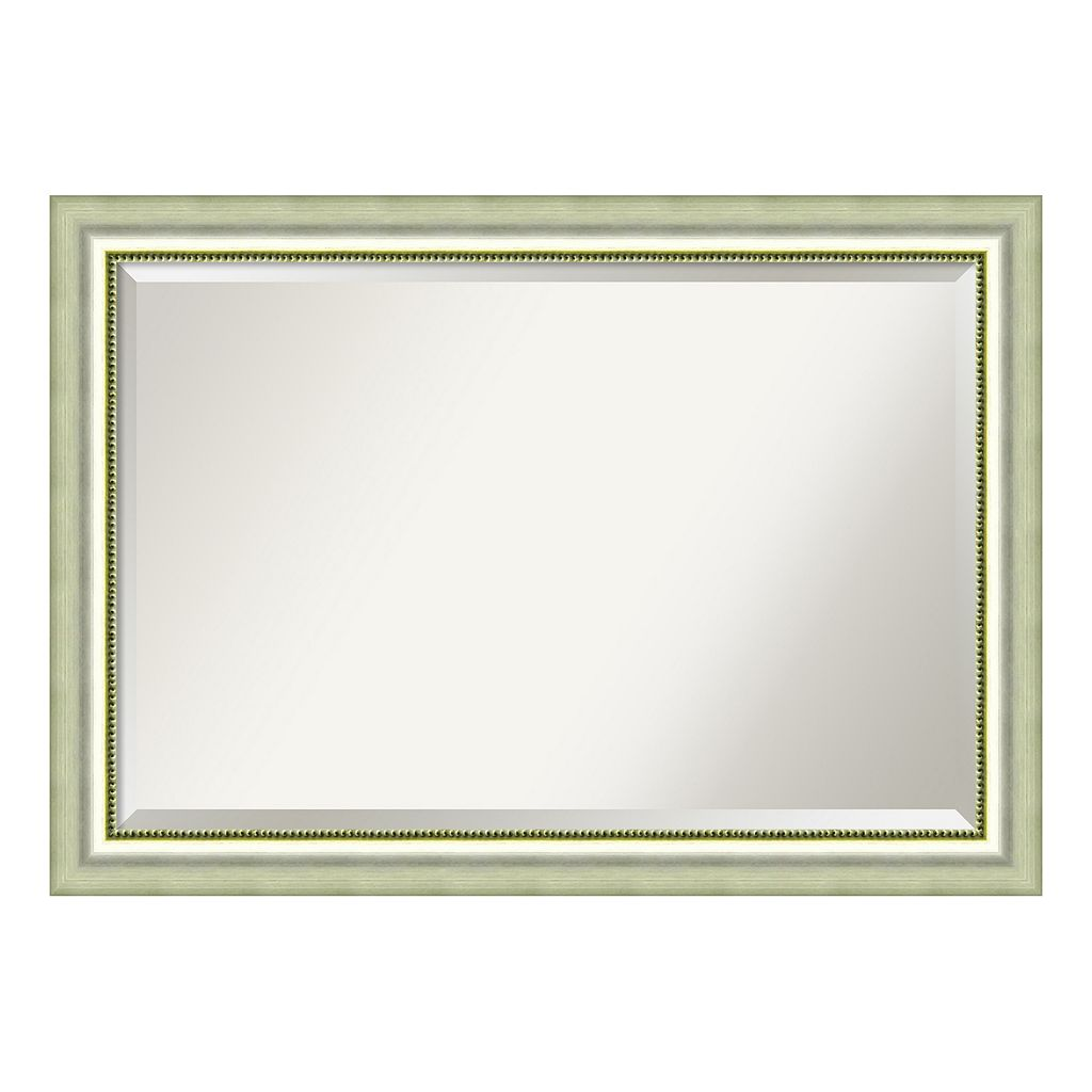 Amanti Art Vegas Burnished Silver-Tone Traditional Wood Wall Mirror