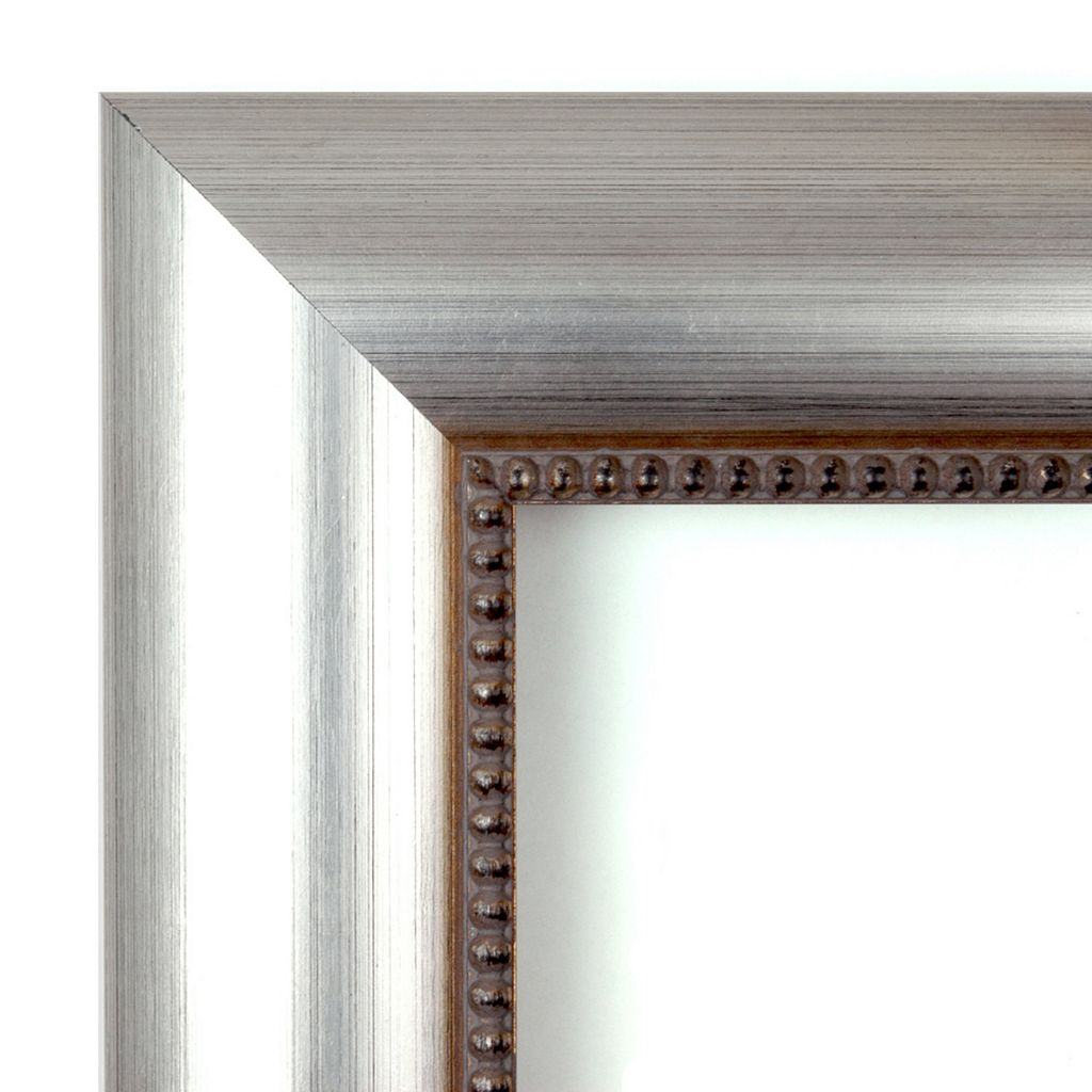 Amanti Art Vegas Burnished Silver-Tone Traditional Wood Wall Mirror