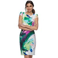 Women's DR by Donna Ricco Printed Sheath Dress