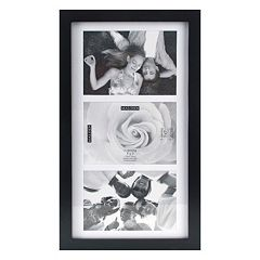 Malden Matted Black 3-Opening 5' x 7' Collage Frame