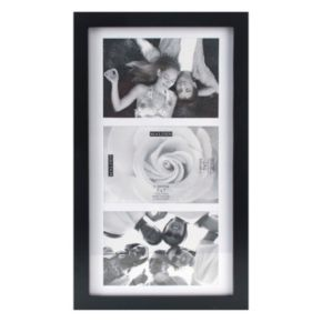 "Malden Matted Black 3-Opening 5"" x 7"" Collage Frame"