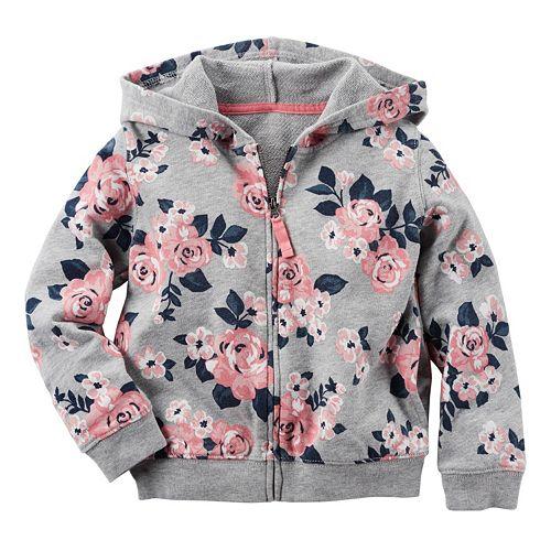 Girls 4-8 Carter's Floral Hoodie