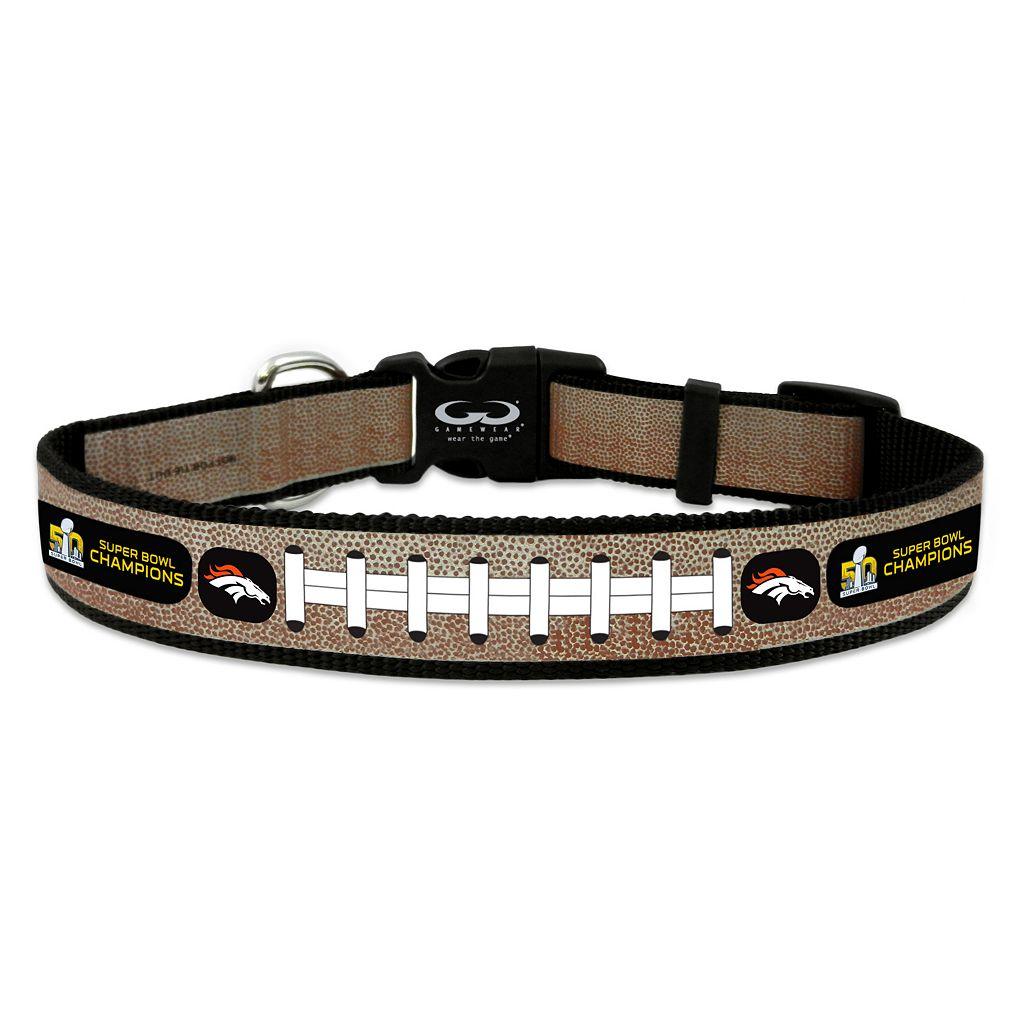 GameWear Denver Broncos Super Bowl 50 Champions Reflective Football Collar