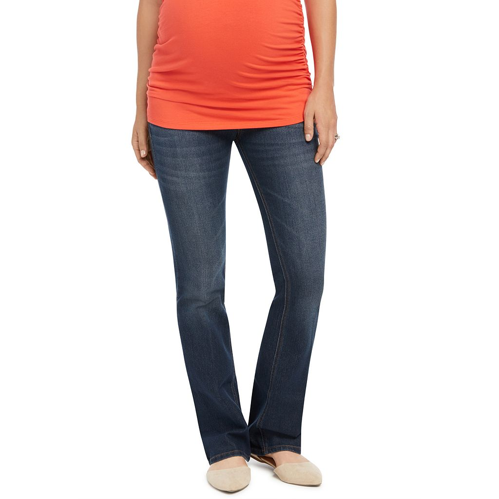 Petite Maternity Oh Baby by Motherhood™ Faded Bootcut Jeans