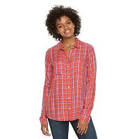 Juniors' SO® Perfectly Soft Button-Front Shirt