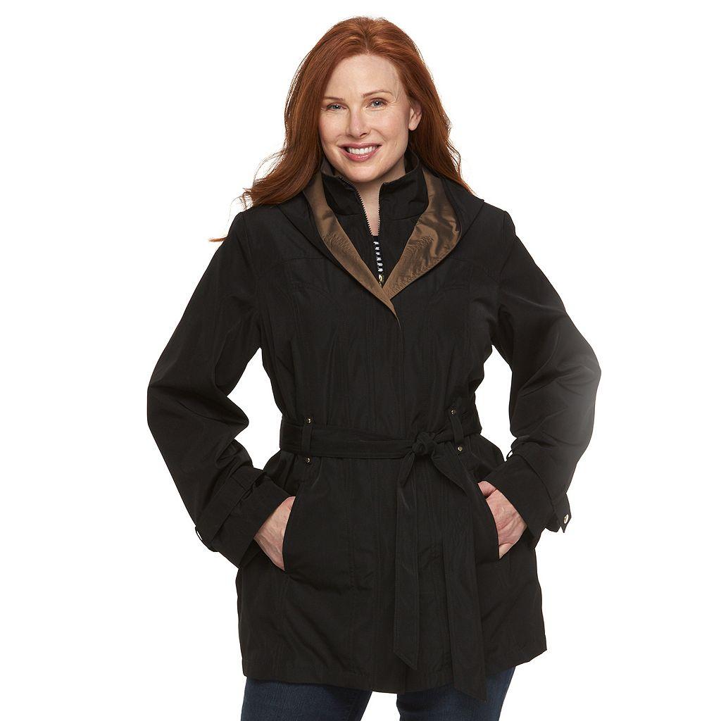 Plus Size Braetan Hooded Rain Jacket