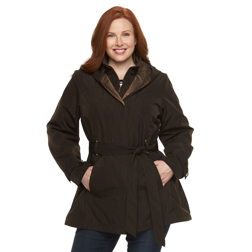 Plus Size Braetan Hooded Rain Jacket