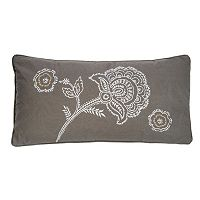 Levtex Casablanca Embroidered Flowers Throw Pillow