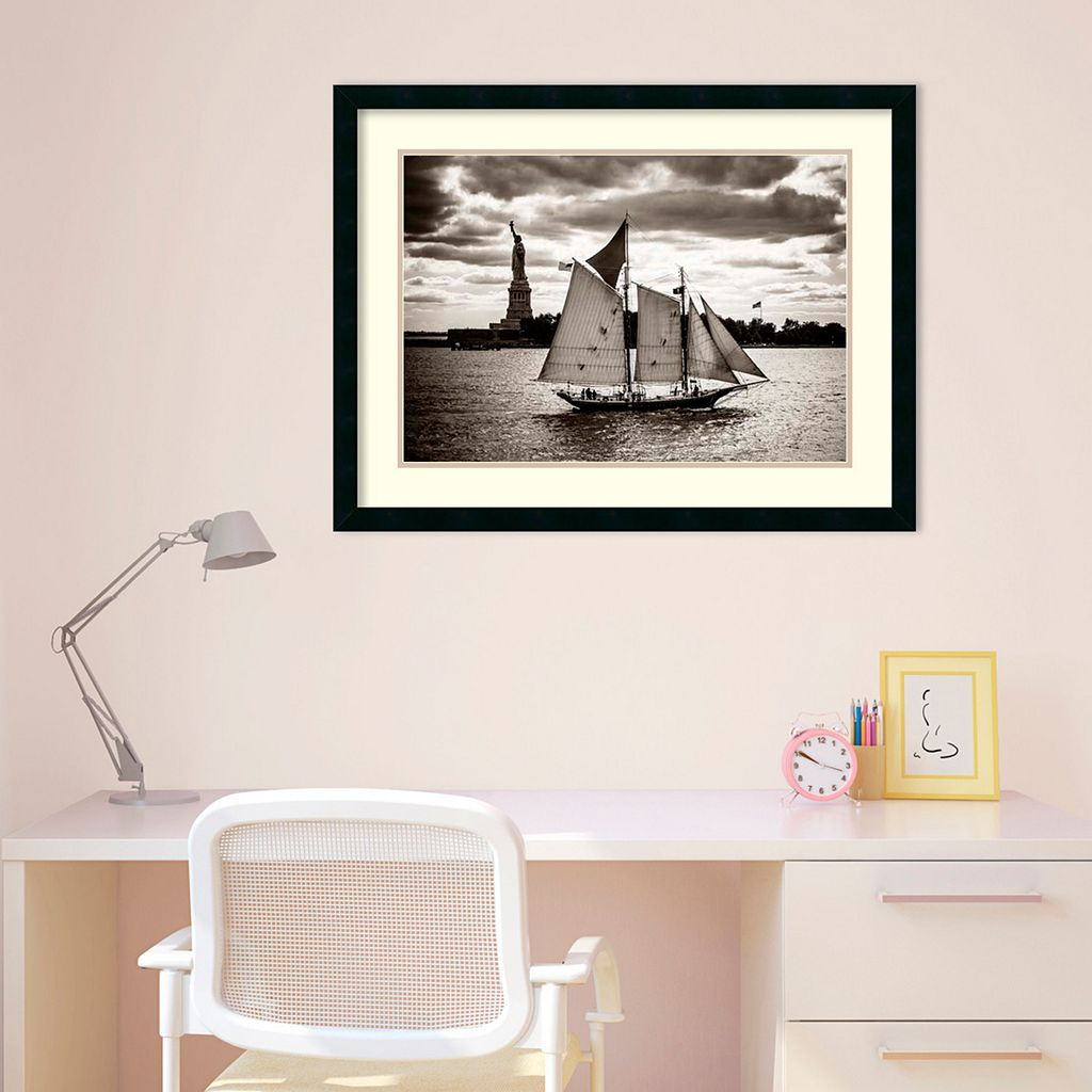 Amanti Art The Clipper & The Liberty Framed Wall Art