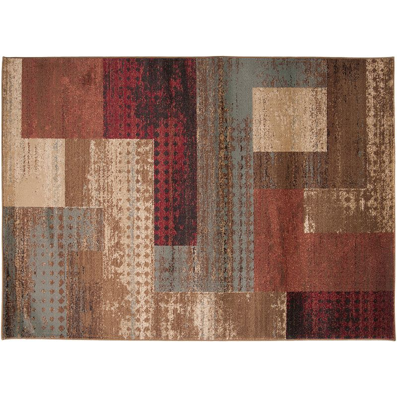 Decor 140 Kazuno Geometric Rug, Brown, 2X3.5 Ft