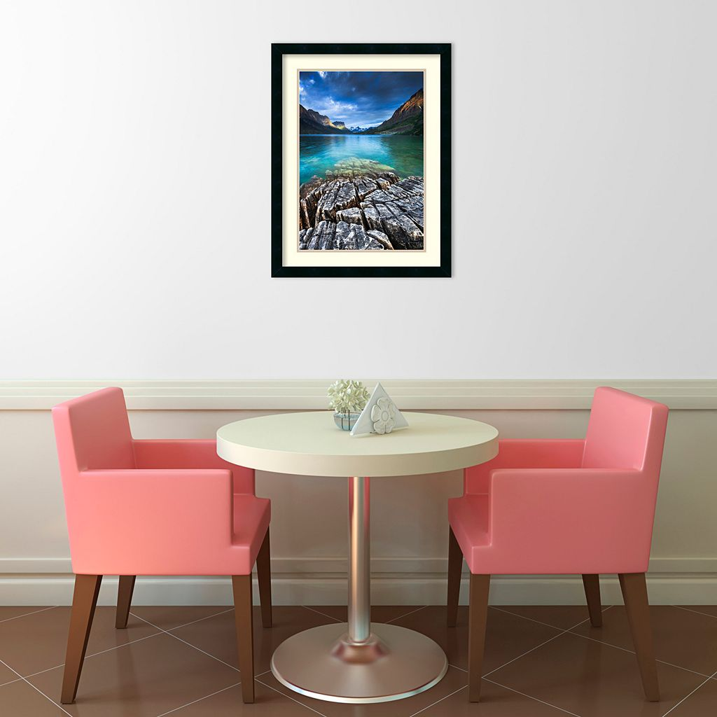 Amanti Art St. Mary Lake Glacier National Park Framed Wall Art