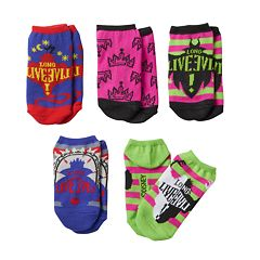 Disney's Descendants Girls 4-6x 5 pkPattern No-Show Socks