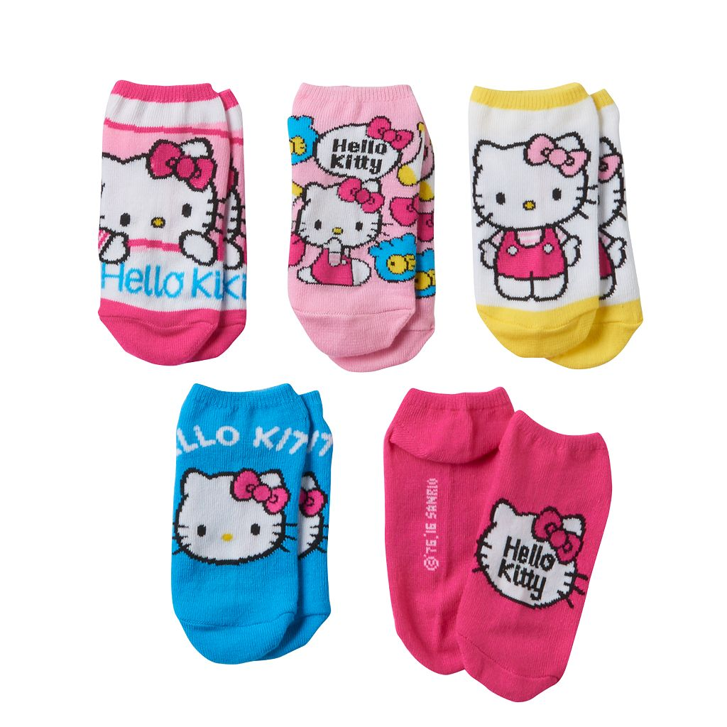 Girls 4-16 Hello Kitty® 5-pk. No-Show Socks