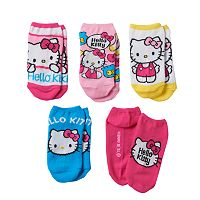 Girls 4-16 Hello Kitty® 5 pkNo-Show Socks