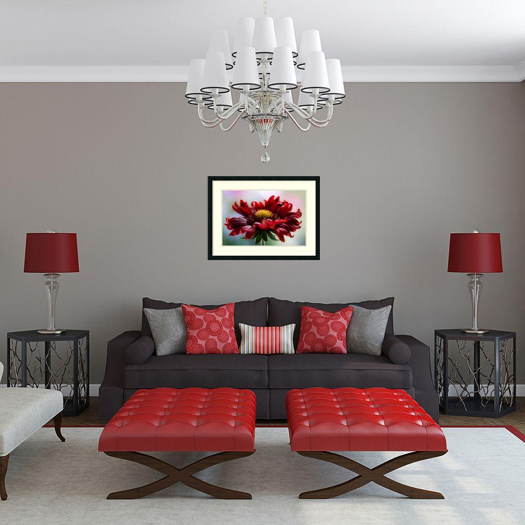 Amanti Art Flame Floral Framed Wall Art