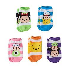 Disney's Tsum Tsum Girls 5 pkNo-Show Socks