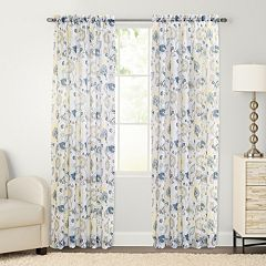 SONOMA Goods for Life™ Mabel Floral Crushed Voile Window Curtain
