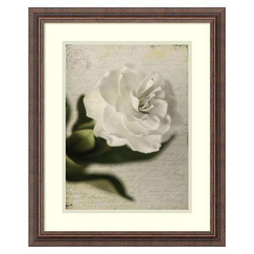Amanti Art Gardenia Grunge II Framed Wall Art