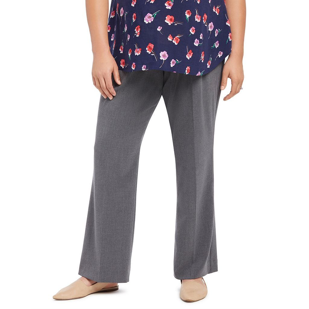 Plus Size Maternity Oh Baby by Motherhood™ Secret Fit Belly™ Slim Bootcut Pants