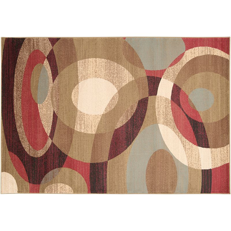 Decor 140 Kirklar Geometric Rug, Dark Red, 8X11 Ft