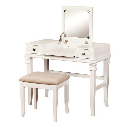 Linon Angela Vanity 2-piece Set