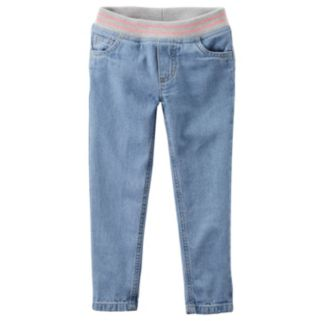 Baby Girl Carter's Pull-On Ribbed Waistband Jeans