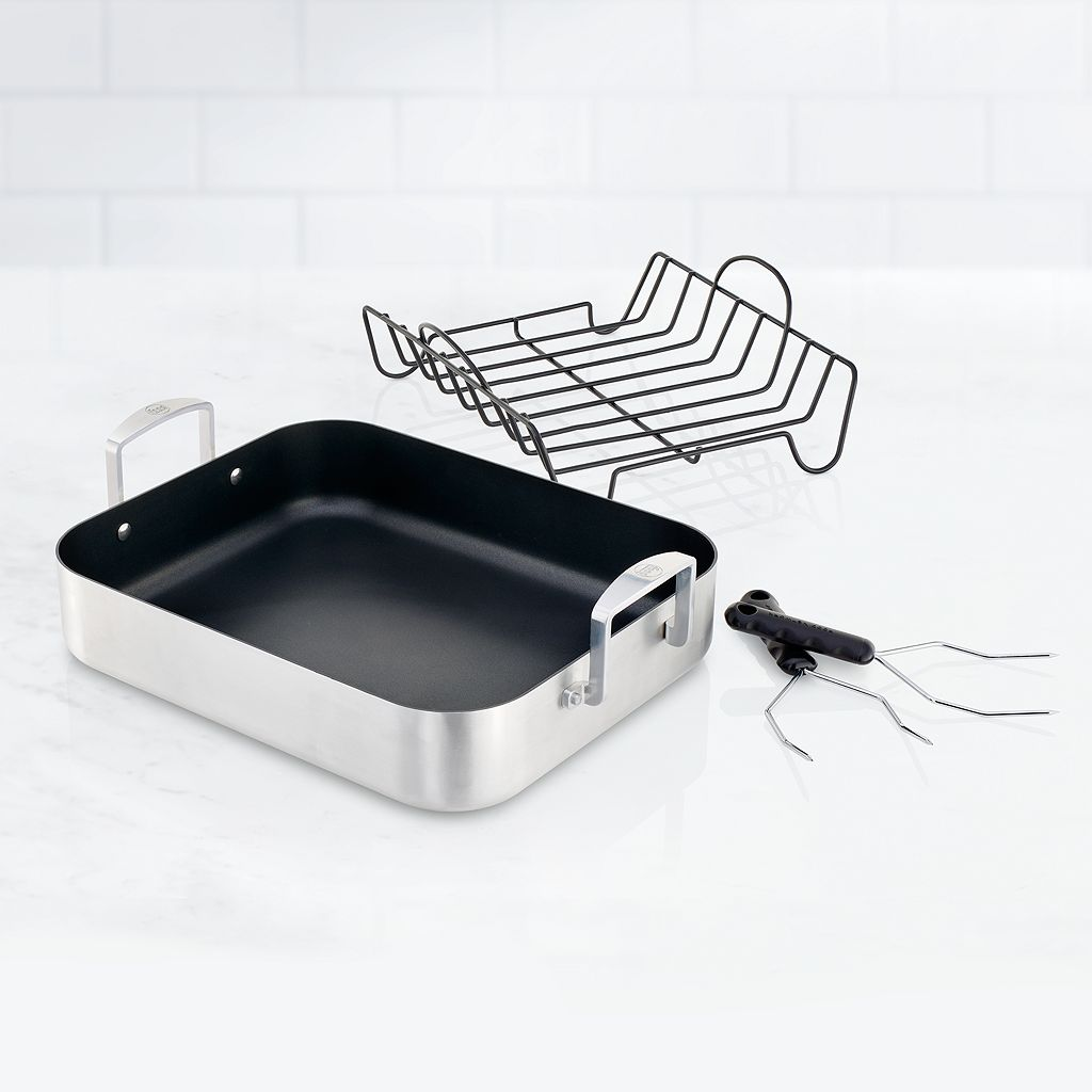 Food Network™ 18-in. Nonstick Aluminum Roaster & Rack