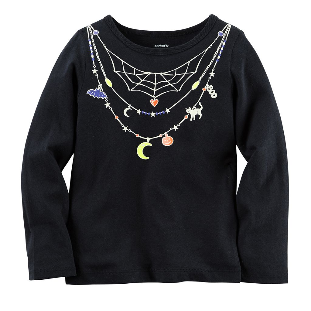 Baby Girl Carter's Necklace Halloween Tee
