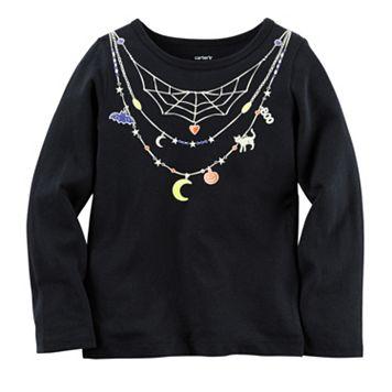 Baby Girl Carter's Necklace Halloween Tee