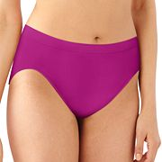 Bali Comfort Revolution Seamless Microfiber Lace Hi-Cut Brief 303J