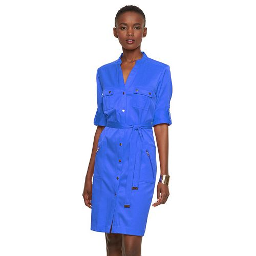 337ab4e4be1 Women s Sharagano Roll-Tab Shirtdress